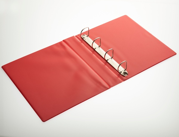 4D Open red ring binder